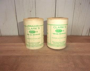 Lovely Clarks Spool Cotton Lidded Tin Canister.