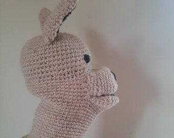 Crochet puppet - alpacas puppet - Gustave the Alpaca