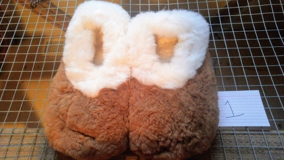 396196ff5fa Slipper - adult slipper - huacaya Alpaca fur slipper natural color - unisex  slipper
