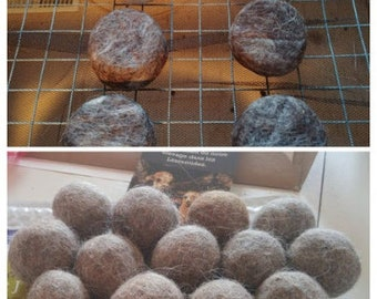 Workshop felted soap and dryer ball - virtual workshop - felted workshop - online workshop - registration at all times