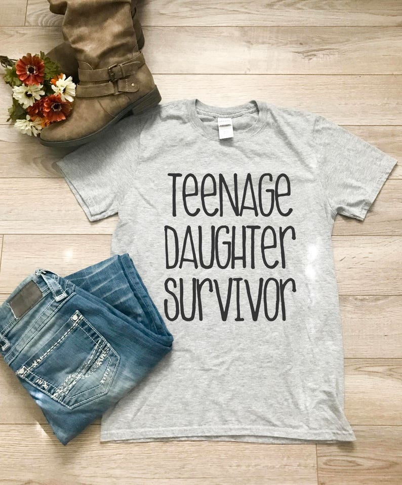 Teenage Daughter Survivor Ladies T Shirt Gift For