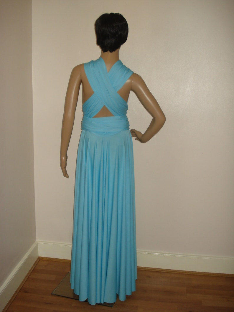 Minty Blue Bridesmaid Dress Multiway Dress Convertible Dress Infinity Dress Wrap Dress Floor Length Dress Evening Dress Prom Dress Weddings