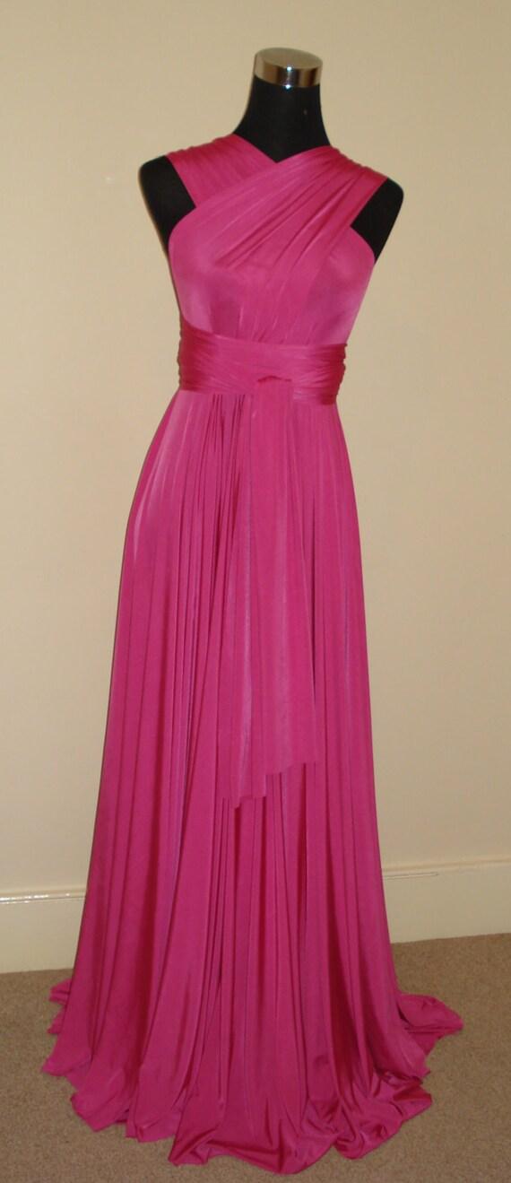 Infinity vestido cerise rosa Dama de honor vestido vestido ...
