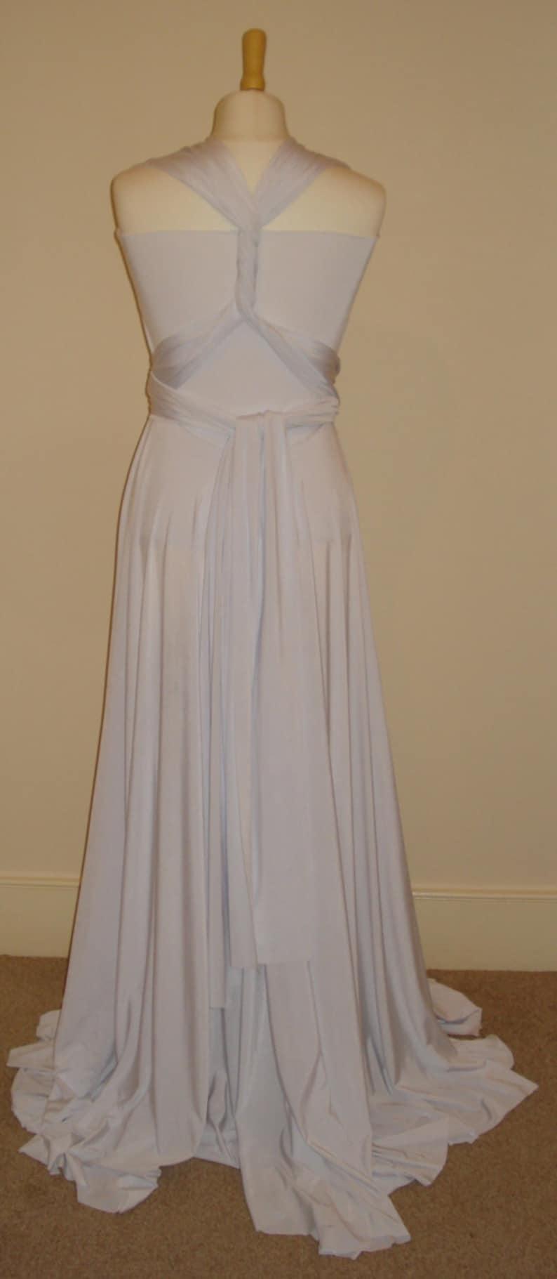 White infinity dress bridesmaid dress floor length wedding dress twist wrap dress white cocktail dress formal evening prom party dress gown