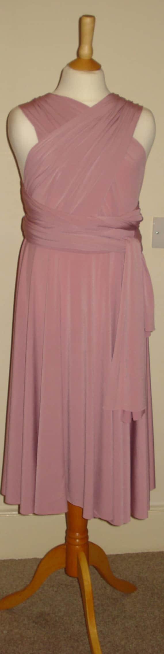 Dusky Pink Soft Touch Infinity Dress Flower Girl Dress