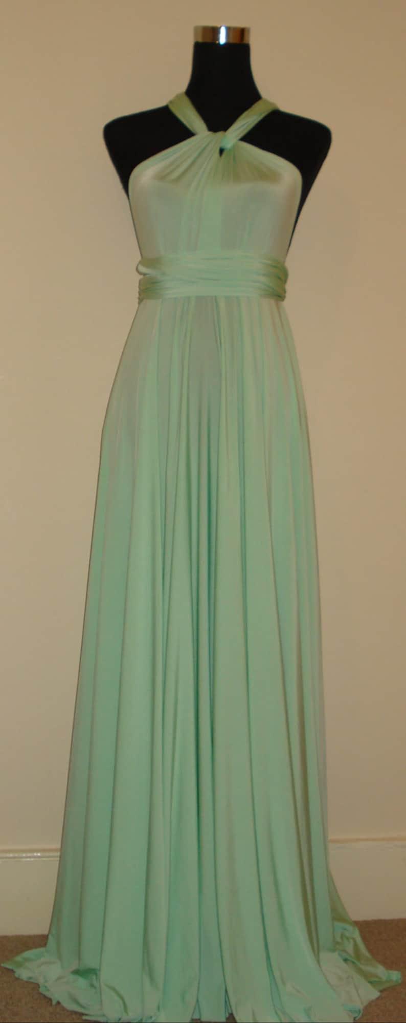 Soft mint bridesmaid dress blackless strapless dress weddings clothing dresses infinity dress multiway dress wrap twist dress formal dress