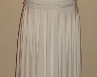 Ivory white Teen Girl Infinity Dress Convertible Dress Age 8/19 Made To Order Double Layer Skirt Twist Wrap Dress Junior Bridesmaid Dress