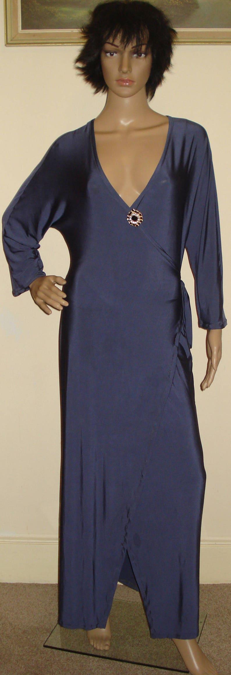 Wrap Dress kimono Dress Long Wrap Dress Made To Order Platinum Grey Wrapped Dress Robe