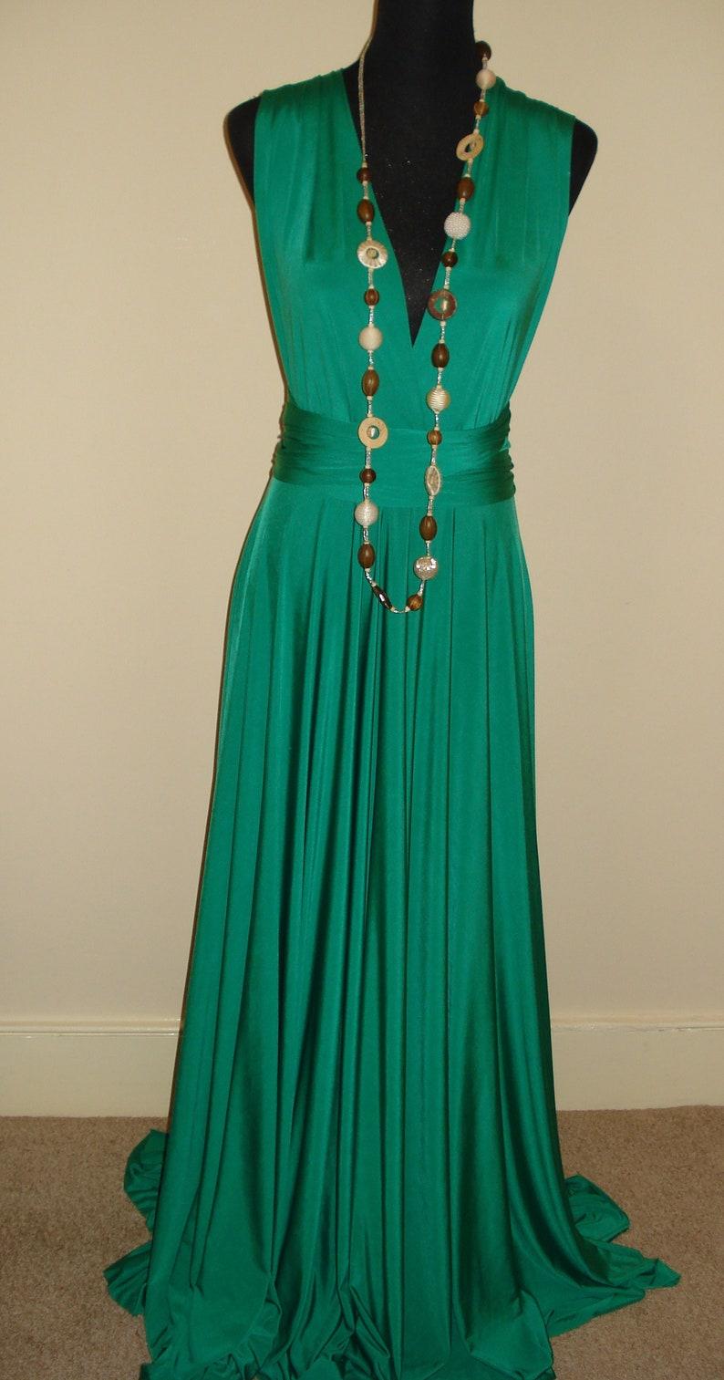 3c33c2d5fbc Emerald Green Infinity Convertible Dress Multiway Dress
