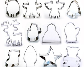 Christmas Cookie Cutters Etsy