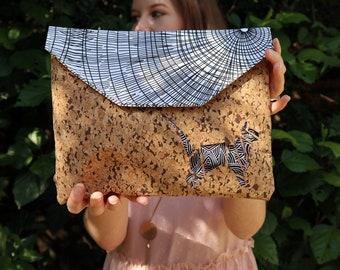 Cork Clutch | Cork Bag | Eco Friendly Clutch | Clutch Bag | Clutch Weddings | Evening Bag | Unique Bag | Cork Clutch Bag | Envelope Clutch