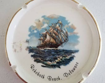 Vintage Rehoboth Beach, Delaware Ceramic Ashtray Trinket Dish
