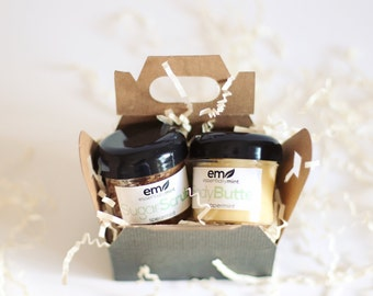 Gift Sets for Women, Sugar Scrub Gift Set, Body Butter Gift Set, Mini Spa Gift Set, Gifts under 20, natural body care, bath and body gift