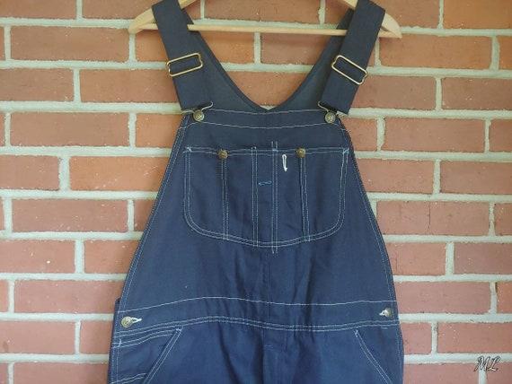 Vintage Sears Overalls Dark Wash Denim Tradewear 1