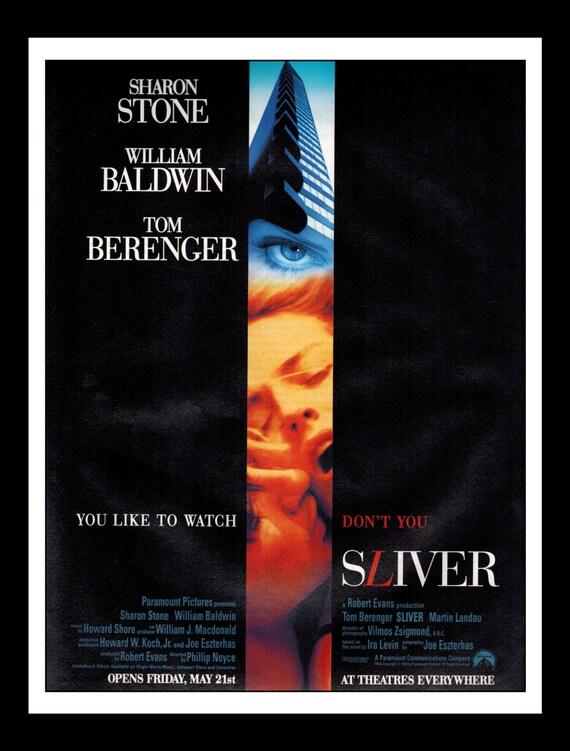 d0adc86f6 Vintage Print Ad 1980s 1990s   Movie Mini Poster Sliver
