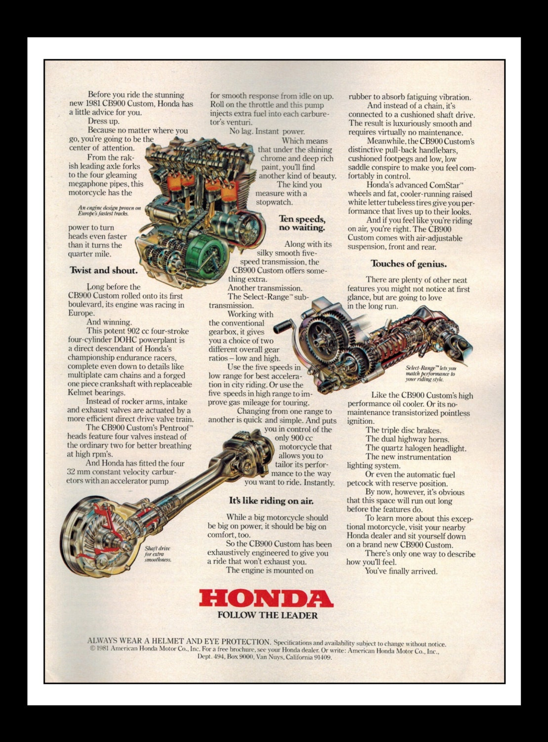Vintage Print Ad March 1981 Honda Motorcycle Follow Etsy Engine Specifications Zoom