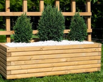 90cm Long Wooden Planter