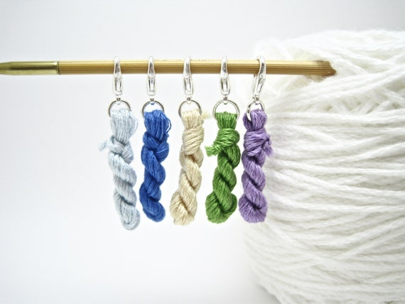 Set Of 10 Hook Size Colourful Number Knitting Crochet Clip Stitch Markers Gift