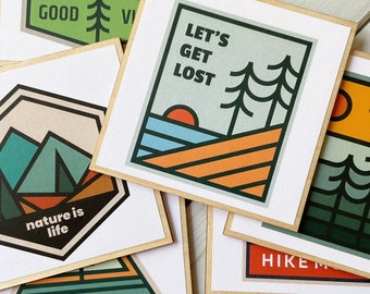 Gift for Nature Lover, Nature is Life, Hiker Gift, Hiking Gift, Outdoor Coasters, Nature Coasters, Hiking Coasters, Green Decor