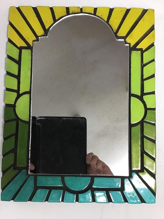 Mirror Art Deco Style Handcrafted Picture Art U K Artist Etsy