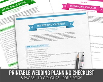 wedding planning checklist template