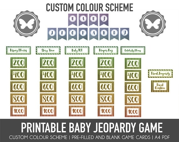 It's just a graphic of Baby Jeopardy Questions and Answers Printable regarding template