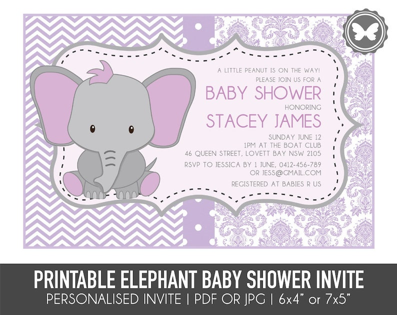 photo about Printable Elephant Baby Shower referred to as Printable Elephant Boy or girl Shower Invitation, Elephant Invitation, Boy or girl Shower, Printable Invitation, Do-it-yourself Invitation, Child Shower Invitation