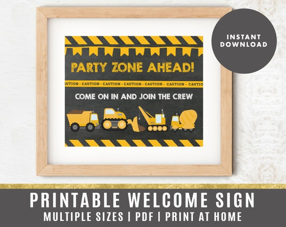 Construction Birthday Construction Milestone Sign Construction Birthday Stats Construction Party Sign Digital File Busy bee/'s Happenings