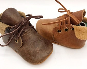 ad8985cefb92a Leather Baby Boots