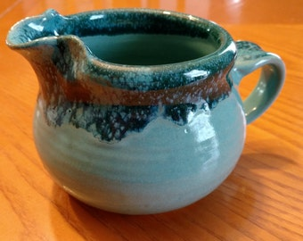 Custom handmade ceramic pitcher, Pottery gravy pitcher, Syrup pitcher, Cream pitcher