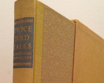 Nathaniel Hawthorne - Twice Told Tales, Illustrated by Valenti Angelo - Vintage 1966 Slipcased Hardcover Book