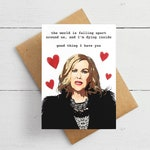 Schitt's Creek Valentine's Day Card. Moria Rose Valentine Gift.