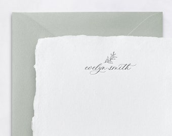 Personalized Stationery - Handmade Paper / Personalized Note Cards