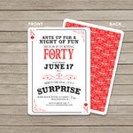 Casino Invitation / Surprise Birthday Invitation / Casino Themed Birthday/ Digital File