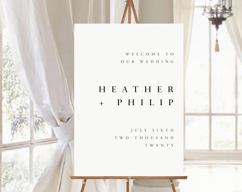Minimalist Wedding Welcome Sign. Simple Wedding Welcome Sign. Foam Board Sign.