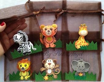 Jungle 1st Birthday Favors Noah Ark Treat Box Favors Set of 12 Safari Popcorn Boxes Safari Baby Shower Goodie Box Favors