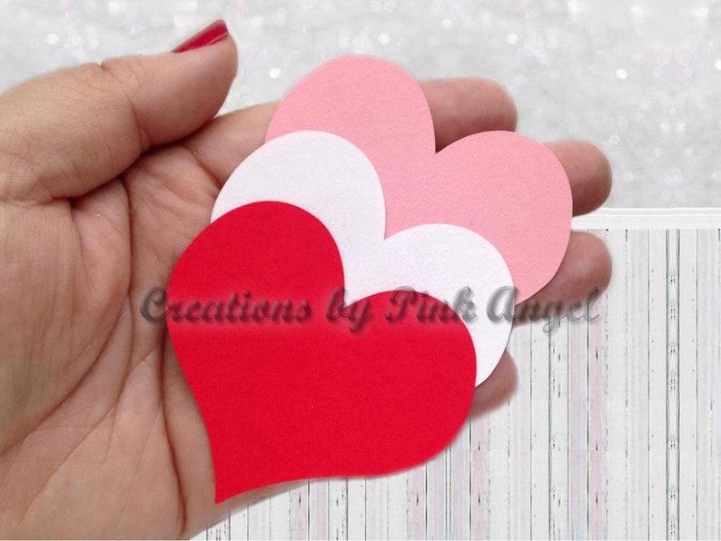 Card Making 4 Large Card Glitter Love Hearts Embellishments Scrapbook