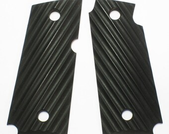 "Duragrips - Kimber Micro Carry .380 Tactical Grips - "" Ripple ""  - Black"