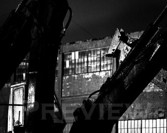 Deconstruction. Excavators Sleep.