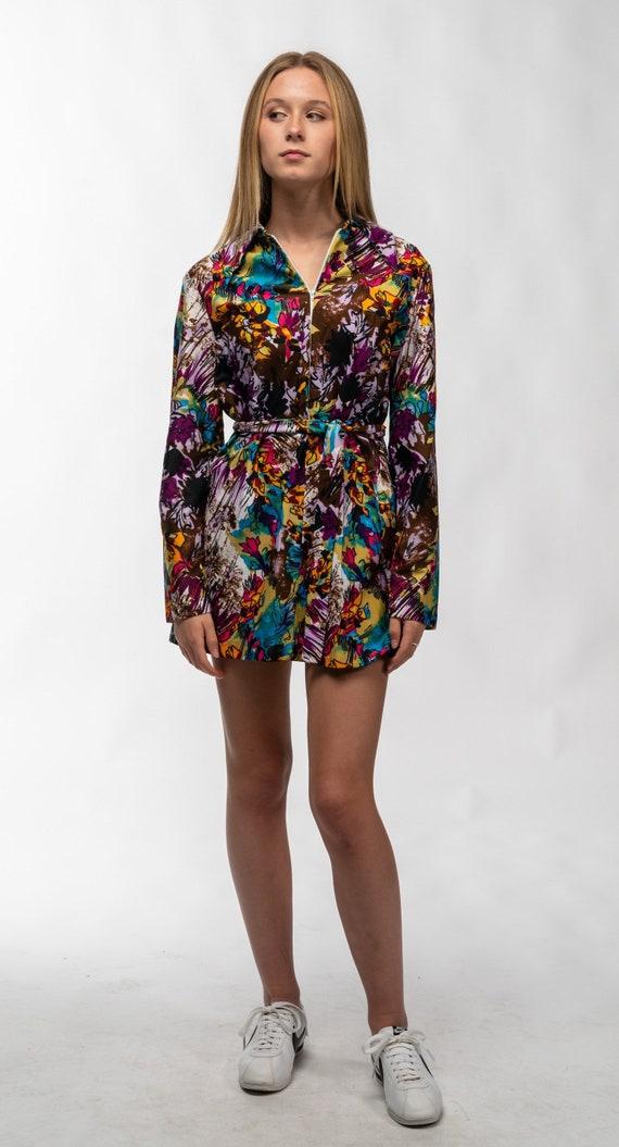 1960's Multi-color Gogo Dress
