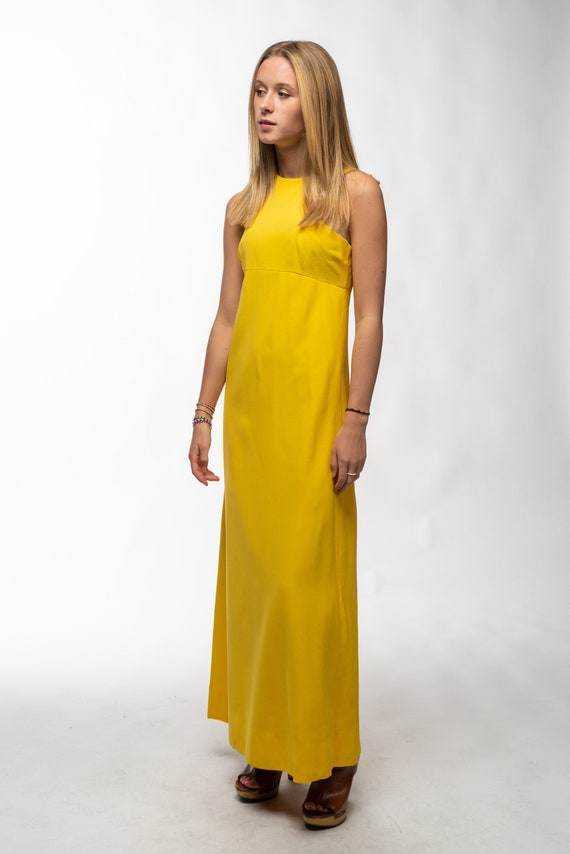 1990s Vintage Yellow Gown - image 9