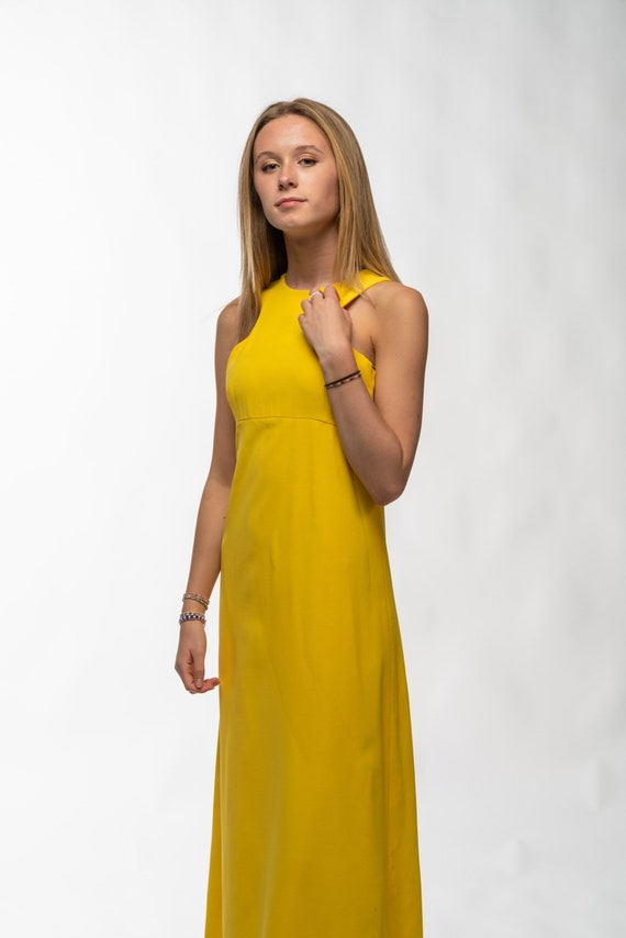 1990s Vintage Yellow Gown - image 7