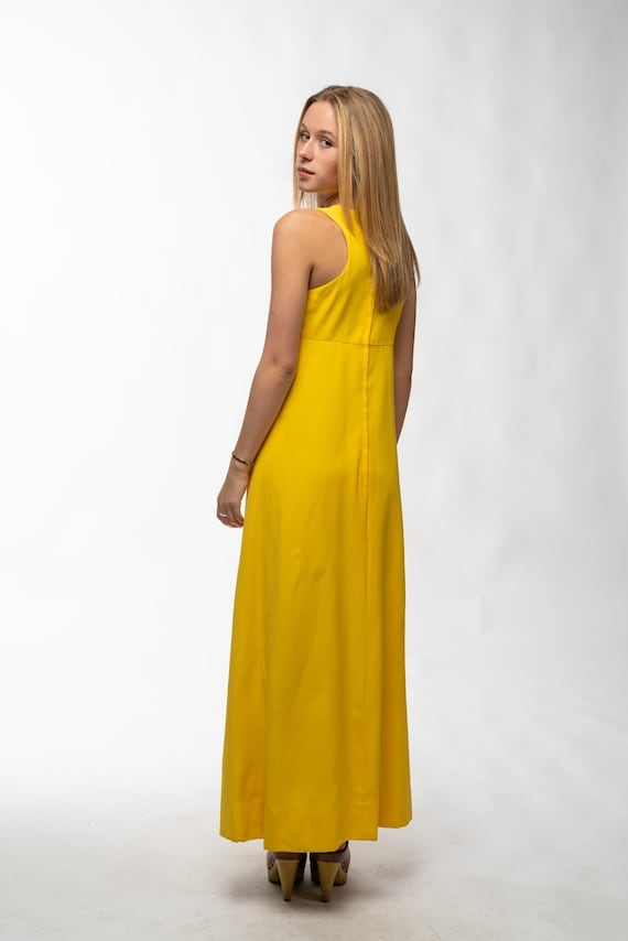 1990s Vintage Yellow Gown - image 6