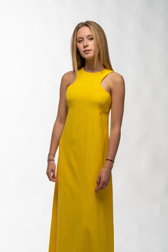 1990s Vintage Yellow Gown - image 1