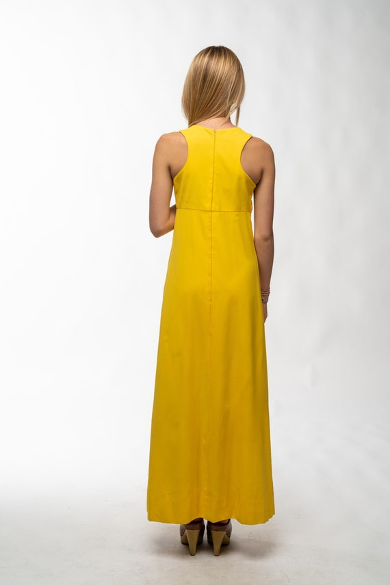 1990s Vintage Yellow Gown - image 4