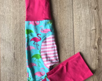 Grow with me pants 6-36 months blue and red