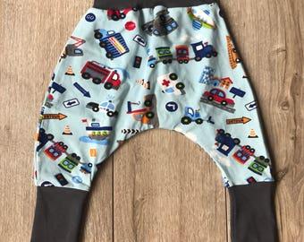 Pants sarrouel means transport pattern 3-9 months