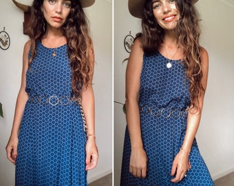 Vintage 90s  MAGICAL TIEDYE EMBROIDERED Minidress   Magical Tie Dye Slouchy Sundress  Easy Breezy Byron Bay Style  Free Size
