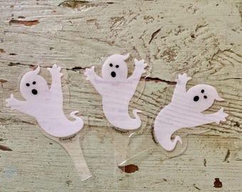 18 spooky halloween ghost cupcake toothpicks ghost toothpicks halloween toothpicks cupcake decorations toothpicks cupcake toppers