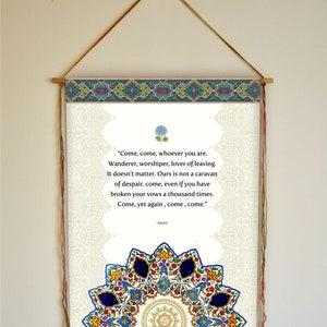 "Inspirant Citation Wall Art Home Decor /""la paix/"" Motivational Yoga Bannière suspendue"